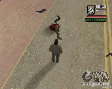 Real Ragdoll Mod Update 2011.09.15 for GTA San Andreas seventh screenshot