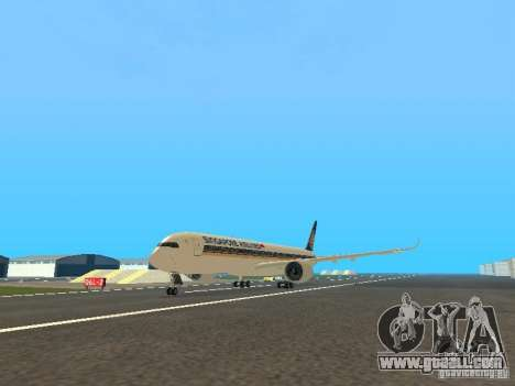 Airbus A350-900 Singapore Airlines for GTA San Andreas