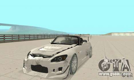 Honda S2000 Cabrio West Tuning for GTA San Andreas upper view