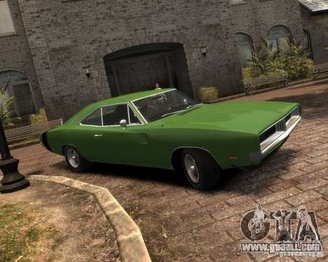 Dodge  Charger 1969 for GTA 4 back left view
