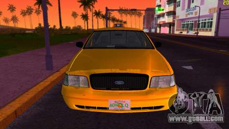 Ford Crown Victoria Taxi 2003 for GTA Vice City back view