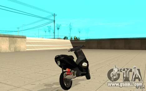 Gilera Runner 50SP Skin 2 for GTA San Andreas back left view