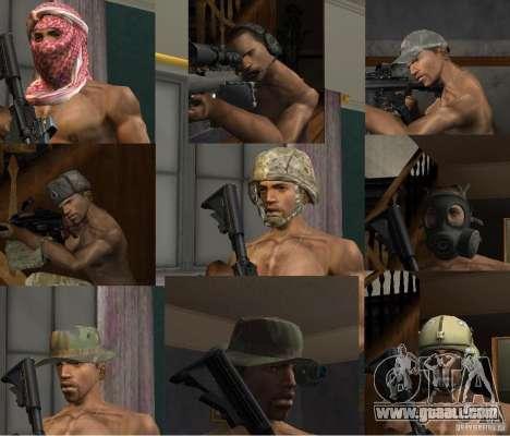 Hats of Call of Duty 4: Modern Warfare for GTA San Andreas