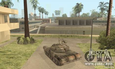 T-90A for GTA San Andreas back left view