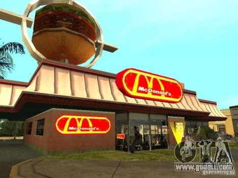 Mc Donalds for GTA San Andreas tenth screenshot