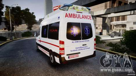 Mercedes-Benz Sprinter Iranian Ambulance [ELS] for GTA 4