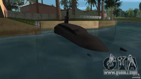 Vice City Submarine with face for GTA Vice City back left view
