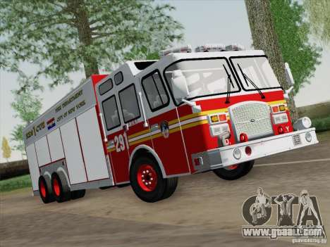 E-One F.D.N.Y Fire Rescue 1 for GTA San Andreas left view