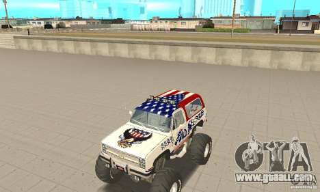 Chevrolet Blazer K5 Monster Skin 7 for GTA San Andreas left view