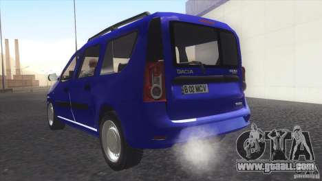 Dacia Logan MCV Facelift for GTA San Andreas left view