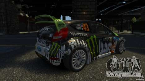 Ford Fiesta RS WRC for GTA 4 back left view