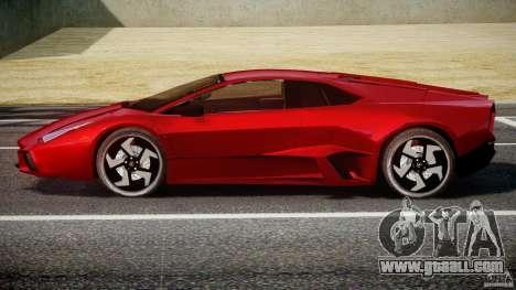 Lamborghini Reventon for GTA 4 back view