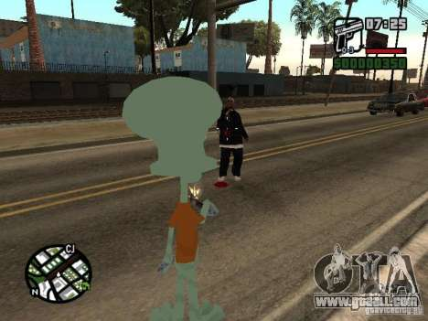 Squidward for GTA San Andreas seventh screenshot
