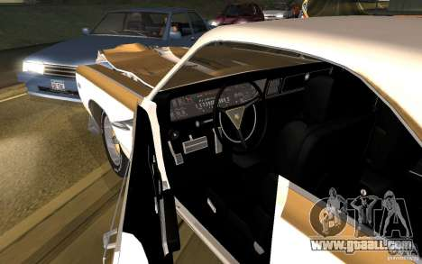 Chrysler 300 Hurst 1970 for GTA San Andreas inner view