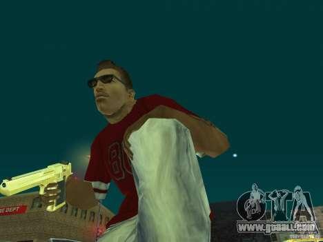 Desert Eagle 357. GOLD for GTA San Andreas third screenshot