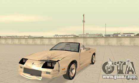 Chevrolet Camaro RS 1991 Convertible for GTA San Andreas upper view