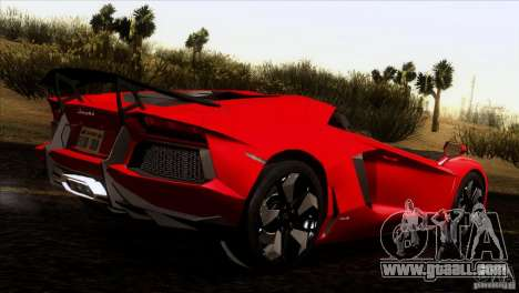 Lamborghini Aventador LP-700 J for GTA San Andreas inner view