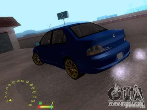 Mitsubishi Lancer EVO BETA for GTA San Andreas left view