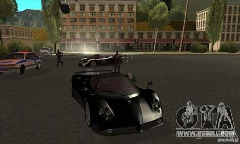 Pagani Zonda F Speed Enforcer BETA for GTA San Andreas side view