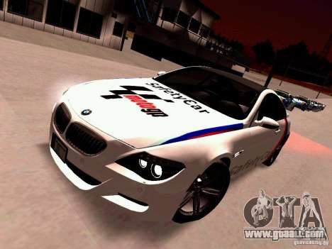 BMW M6 MotoGP SafetyCar for GTA San Andreas left view