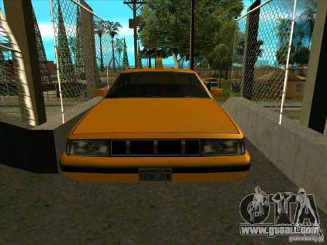Intruder Taxi for GTA San Andreas back view