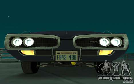 Dodge Coronet Super Bee 1970 for GTA San Andreas left view