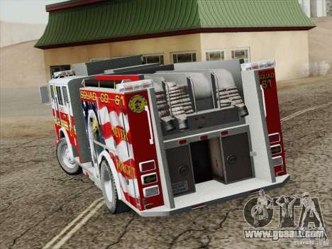 Seagrave Marauder. F.D.N.Y. Squad 61. for GTA San Andreas upper view