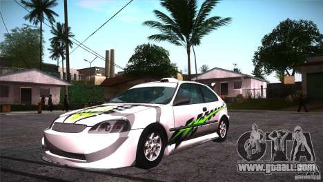 Honda Civic Tuneable for GTA San Andreas wheels