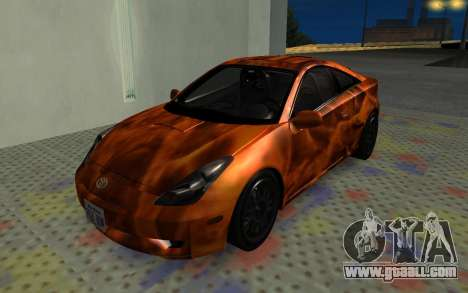 Toyota Celica 2JZ-GTE for GTA San Andreas inner view
