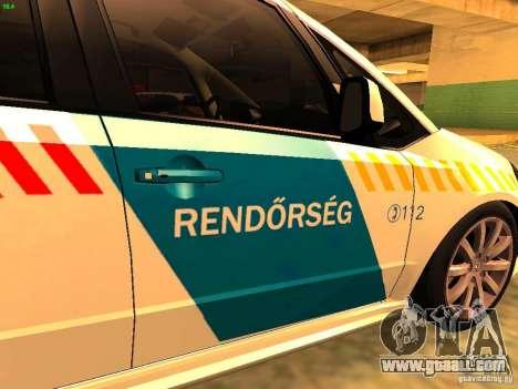 Suzuki SX-4 Hungary Police for GTA San Andreas back view