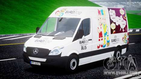 Mercedes-Benz Sprinter Euro 2012 for GTA 4 back view