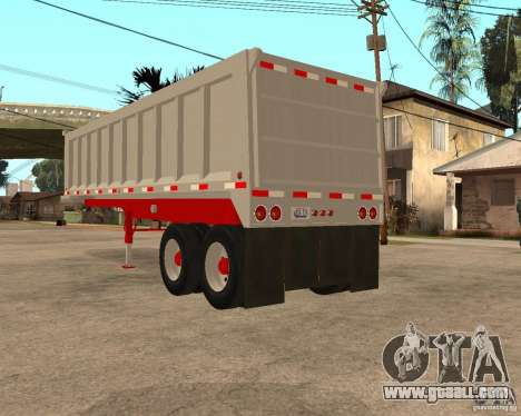 Artict3 Dump Trailer for GTA San Andreas back left view