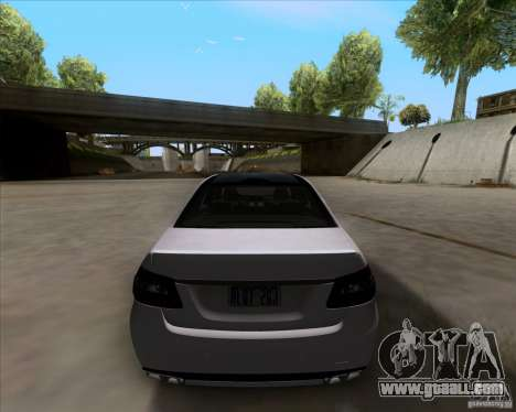 Mercedes-Benz E63 AMG V12 TT Black Revel for GTA San Andreas back view