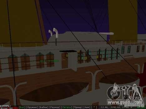 HMHS Britannic for GTA San Andreas back view
