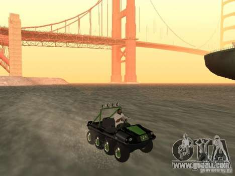 All-Terrain Vehicle Argo Avenger for GTA San Andreas right view