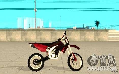GTAIV Sanchez for GTA San Andreas left view