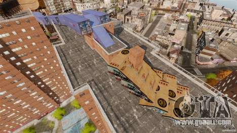 Bike Challenge track + Huge Ramp for GTA 4 forth screenshot