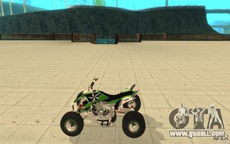 Yamaha YFZ 450 SuperCross Skin 4 for GTA San Andreas left view