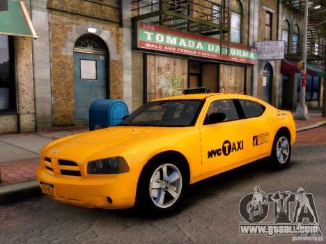 Dodge Charger NYC Taxi V.1.8 for GTA 4 back left view