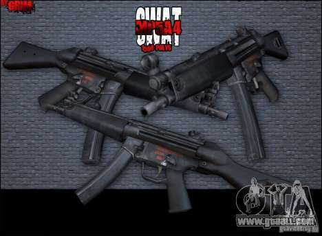MP5A4 for GTA San Andreas