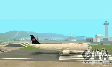 Airbus A321 Air Canada for GTA San Andreas inner view