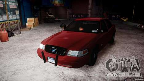 Ford Crown Victoria Detective v4.7 red lights for GTA 4