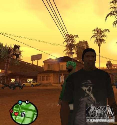Watchmen Rorschach Shirt for GTA San Andreas second screenshot