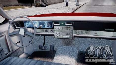 Chevrolet Impala 1983 v2.0 for GTA 4 right view