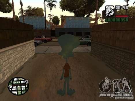 Squidward for GTA San Andreas forth screenshot