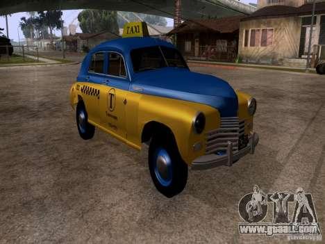 GAZ M20 Pobeda Taxi for GTA San Andreas