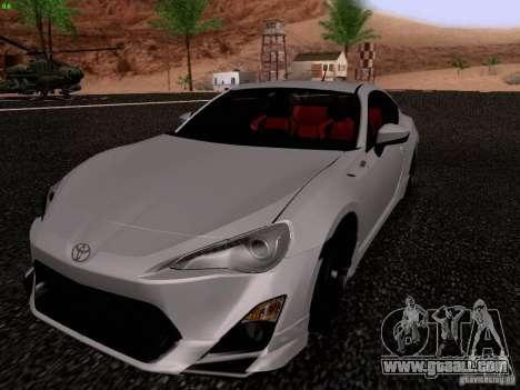 Toyota 86 TRDPerformanceLine 2012 for GTA San Andreas