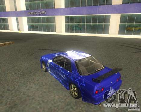 Nissan Skyline R32 GTS-T type-M for GTA San Andreas upper view