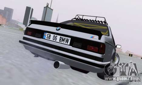 BMW M635CSi Stanced for GTA San Andreas right view