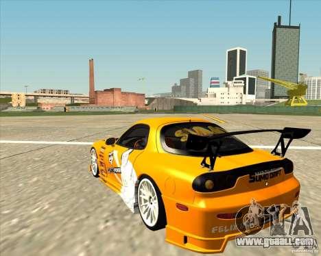 Mazda RX-7 sumopoDRIFT for GTA San Andreas back left view